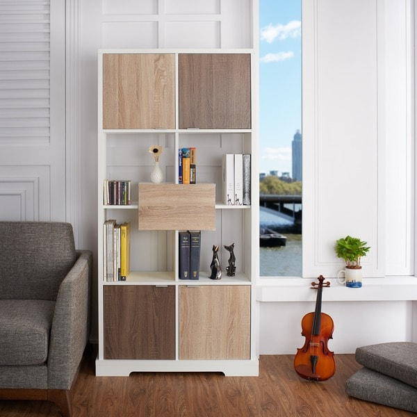 Furniture Of America Dekisa Contemporary 2 Tone Bookshelf