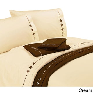 HiEnd Accents 350 Thread Count Embroidered Star Sheet Set (More options available)