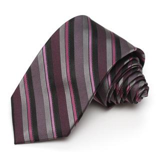 Alara Pink and Black Modern Width Silk Tie