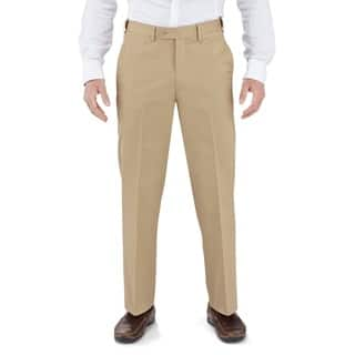 Winthrop & Church Men's Cotton Plain Front Straight Leg Dress Pants|https://ak1.ostkcdn.com/images/products/9958608/P17111654.jpg?impolicy=medium