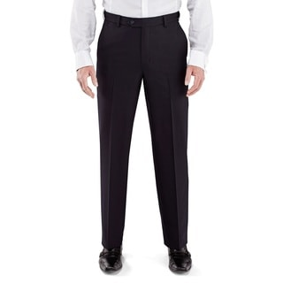Winthrop & Church Men's Black Plain Front Comfort Fit Pants