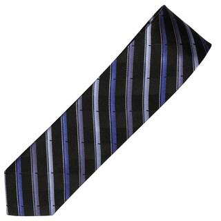 Alara Black and Purple Narrow Width Silk Tie