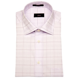 Alara Periwinkle Lux Glen Plaid Men's Dress Shirt