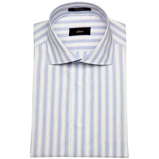 Alara St Tropez Medium Blue Stripe Mens Dress Shirt