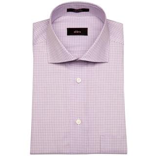Alara Euro Collar Purple Baby Gingham Men's Dress Shirt