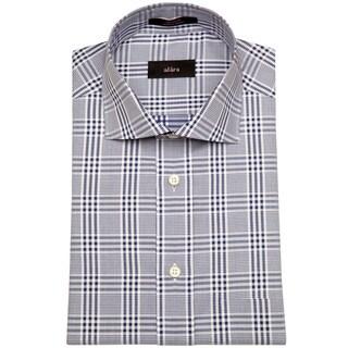 Alara Navy Gingham Plaid Men's Dress Shirt