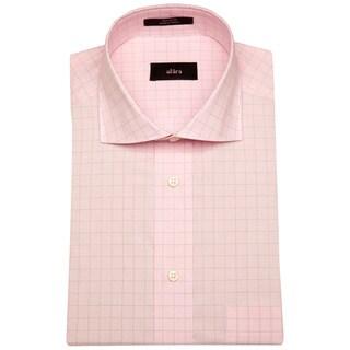 Alara Soft Pink Textured Fine Window Pane Men's Dress Shirt