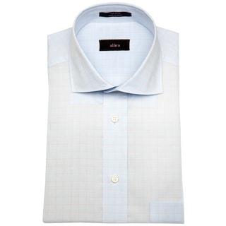 Alara Soft Blue Textured Men's Dress Shirt w/ Euro Collar