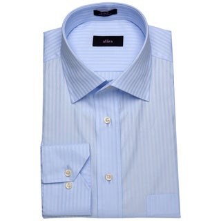Alara Blue Fanthom Stripe Mens Dress Shirt w/ French Cuff