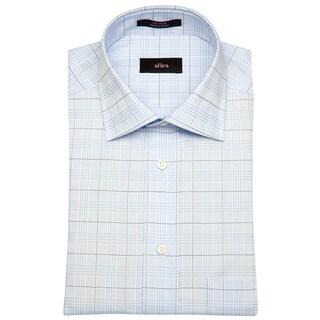 Alara Blue Lux Glen Plaid Men's Dress Shirt