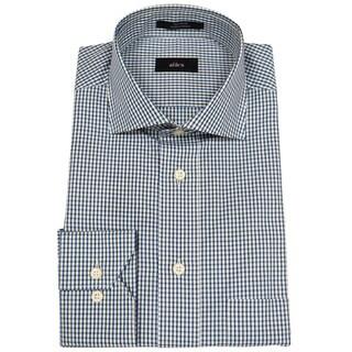 Alara Blue Melange Small Check Mens Dress Shirt
