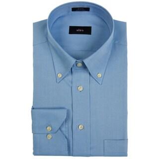 Alara Pinpoint Oxford Blue Button Down Men's Dress Shirt