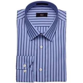 Alara Contemporary Collar Navy And Blue Bold Stripe