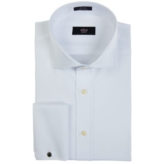 Alara Luxurious White Twill French Cuff Dress Shirt