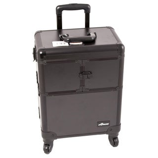 JustCase Sunrise Black Professional Rolling Makeup Case