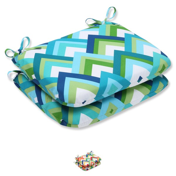 Pillow Perfect Outdoor Resort Rounded Corners Seat Cushion (Set of 2)