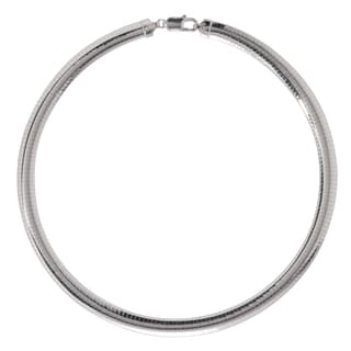Sterling Silver Italian 8mm Omega Necklace