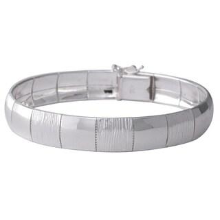 Sterling Silver Diamond-cut Italian Cubetto Bracelet
