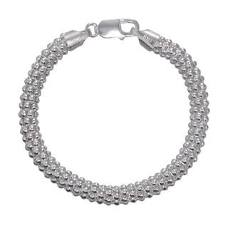 Karizia Italian Sterling Silver Popcorn Bracelet