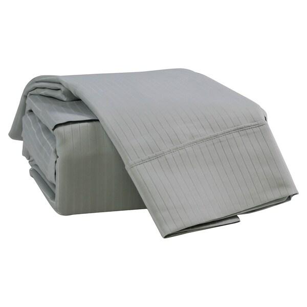 Somette Lane Cotton Blend 1000 Thread Count Striped Sheet Set