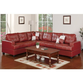 Travnik Faux Leather Sectional Sofa