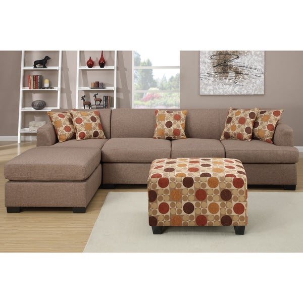 Shop Farsund Large Contemporary 2 Piece Blended Linen