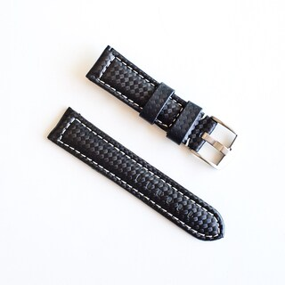Banda Carbon Fiber Nylon Fabric with Genuine Leather Lining Watch Band