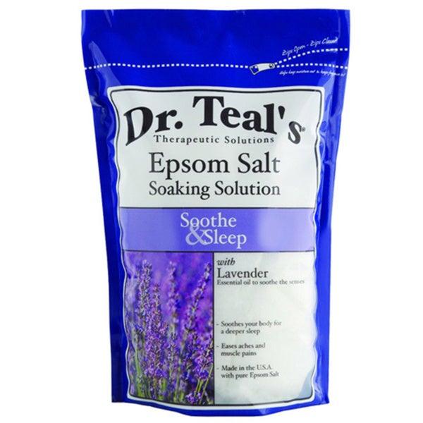 Dr teal 39 s soothe and sleep with lavender pure epsom salt for Epsom salt for fish