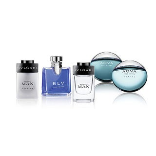 Bvlgari Men's 5-piece Mini Variety Gift Set