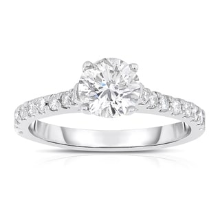 Eloquence 14k White Gold 1 1/8ct TDW Diamond Engagement Ring (J-K, SI1-SI2)
