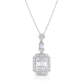 Eloquence 14k White Gold 1/2ct TDW Diamond Necklace