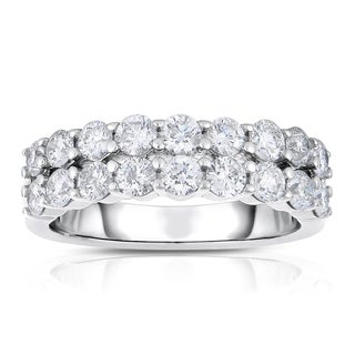 Eloquence 14k White Gold 1 1/2ct TDW Diamond 2-row Band (H-I, I1-I2)