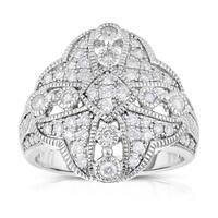 Eloquence 14k White Gold 3/4ct TDW Diamond Fashion Ring