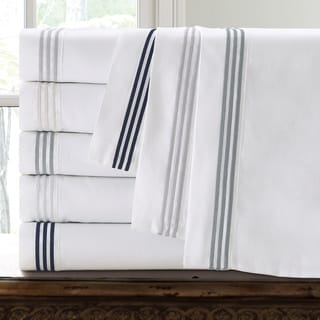 Echelon Home Three Line Hotel Collection Cotton Sateen Sheet Set
