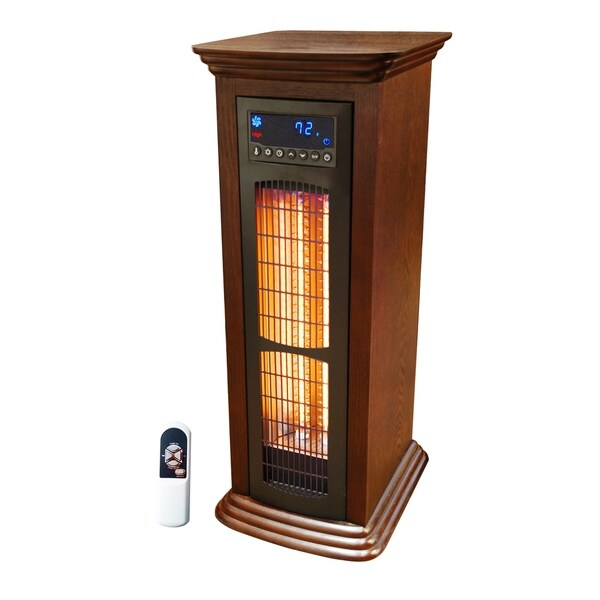 Lifelux All Season Extra Large Room Infrared Wood Infrared Tower