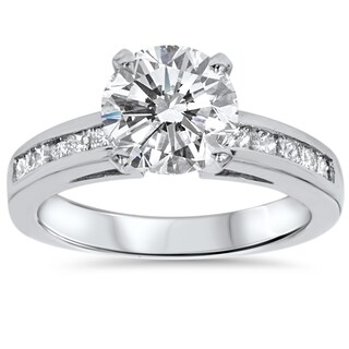 14k White Gold 2 1/2ct TDW Clarity Enhanced Diamond Engagement Ring (More options available)