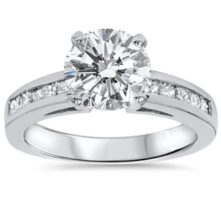 14k White Gold 2 1/2ct TDW Clarity Enhanced Diamond Engagement Ring