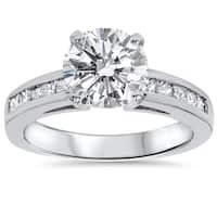 14k White Gold 2 1/2ct TDW Clarity Enhanced Diamond Engagement Ring