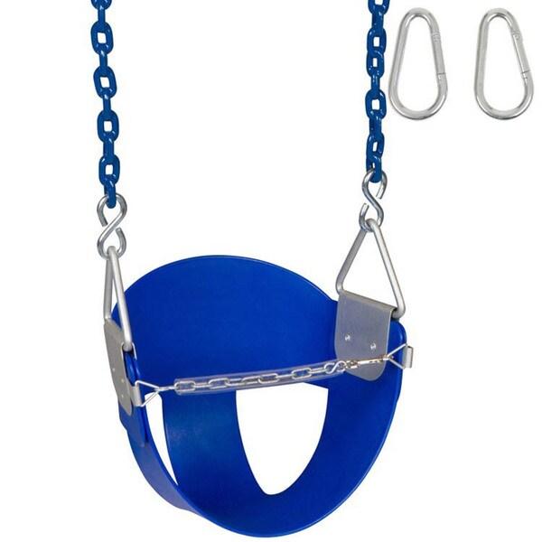 Swing Set Stuff Highback 1/2 Buck Swing Seat with 8.5 ft. Coated Chain