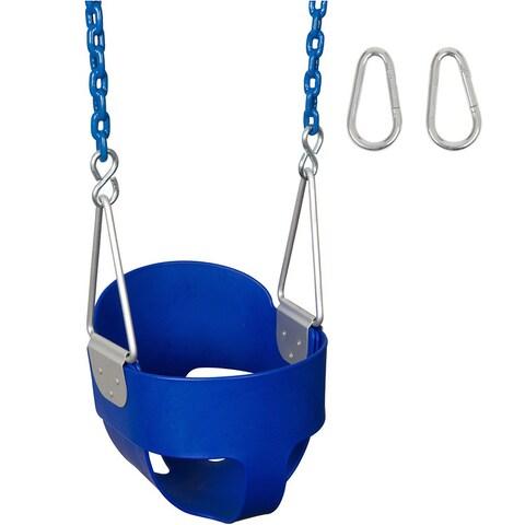 Swing Set Stuff Highback Full Bucket Swing Seat with 5 1/2 Ft Coated Chain