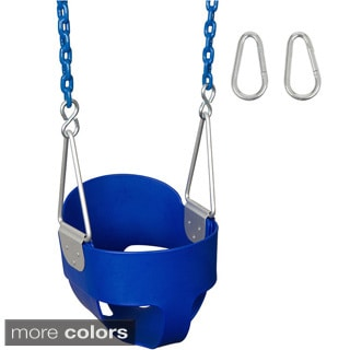 Swing Set Stuff Highback Full Bucket Swing Seat with 5 1/2 Ft Coated Chain