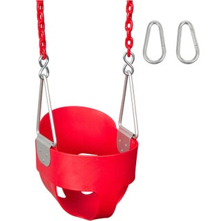 Swing Set Stuff Highback Full Bucket Swing Seat with 5 1/2 Ft Coated Chain (Option: Red)