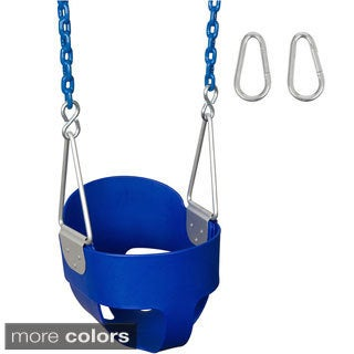 Swing Set Stuff Highback Full Bucket Swing Seat with 8.5-foot Coated Chain