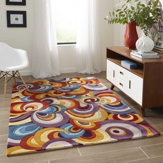 New Wave Funky Hand-tufted Wool Area Rug (5'3 x 8')