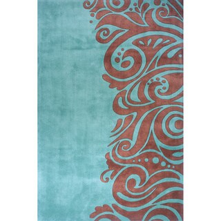New Wave Fashion Hand-tufted Wool Area Rug (5'3 x 8')