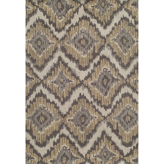 Softique Diamond Ikat Hand-tufted Area Rug (5' x 7')