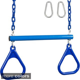 Swing Set Stuff Trapeze with Rings and Coated Chain