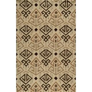 Global Angren Hand-tufted Wool Area Rug (5' x 8')