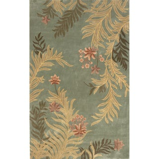 Aubusson Floral Hand-tufted Wool Area Rug (5' x 8')