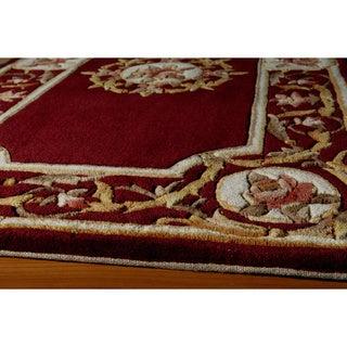 Aubusson Medallion Hand-tufted Wool Area Rug (5' x 8')
